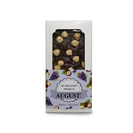 Шоколад Родзинки з фундуком AUGUST ॐ Бутик ROSA