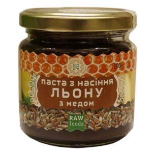 Паста из семян льна с медом (Эколия)