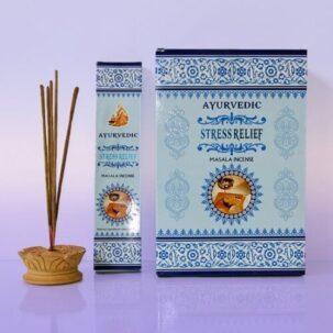 Благовония Стресс релиф (Stress Relief, Ayurvedic) купить в бутике аюрведы ROSA