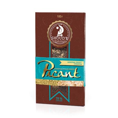 Шоколад «Picant» с имбирем, 100 грамм ॐ Бутик ROSA
