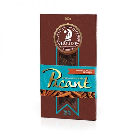 Шоколад «Picant» с корицей, 100 грамм ॐ Бутик ROSA