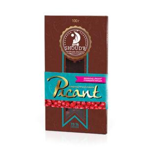 Шоколад «Picant» с розовым перцем, 100 грамм ॐ Бутик ROSA