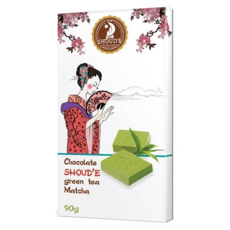 Шоколад SHOUD'E зеленый чай Matcha, 90 грамм ॐ Бутик ROSA