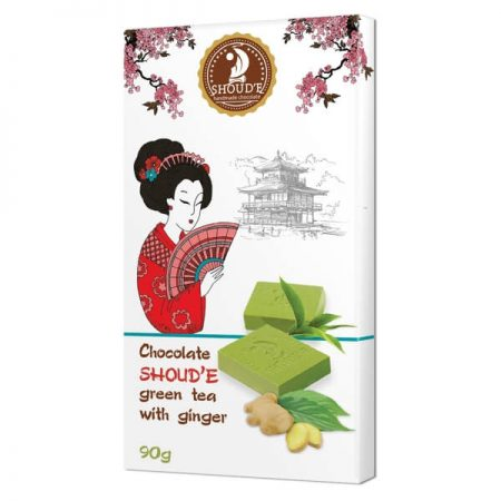 Шоколад SHOUD'E зеленый чай с имбирем, 90 грамм ॐ Бутик ROSA