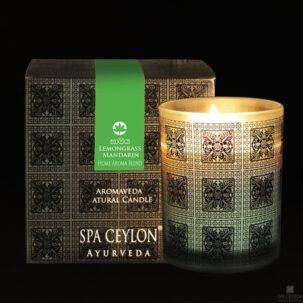 Натуральная ароматическая свеча ЛЕМОНГРАСС И МАНДАРИН