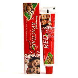 Красная зубная паста Red
