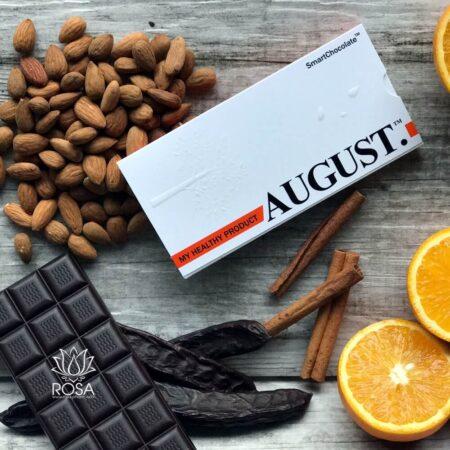 Шоколад без сахара с апельсином и миндалем August ॐ Бутик ROSA