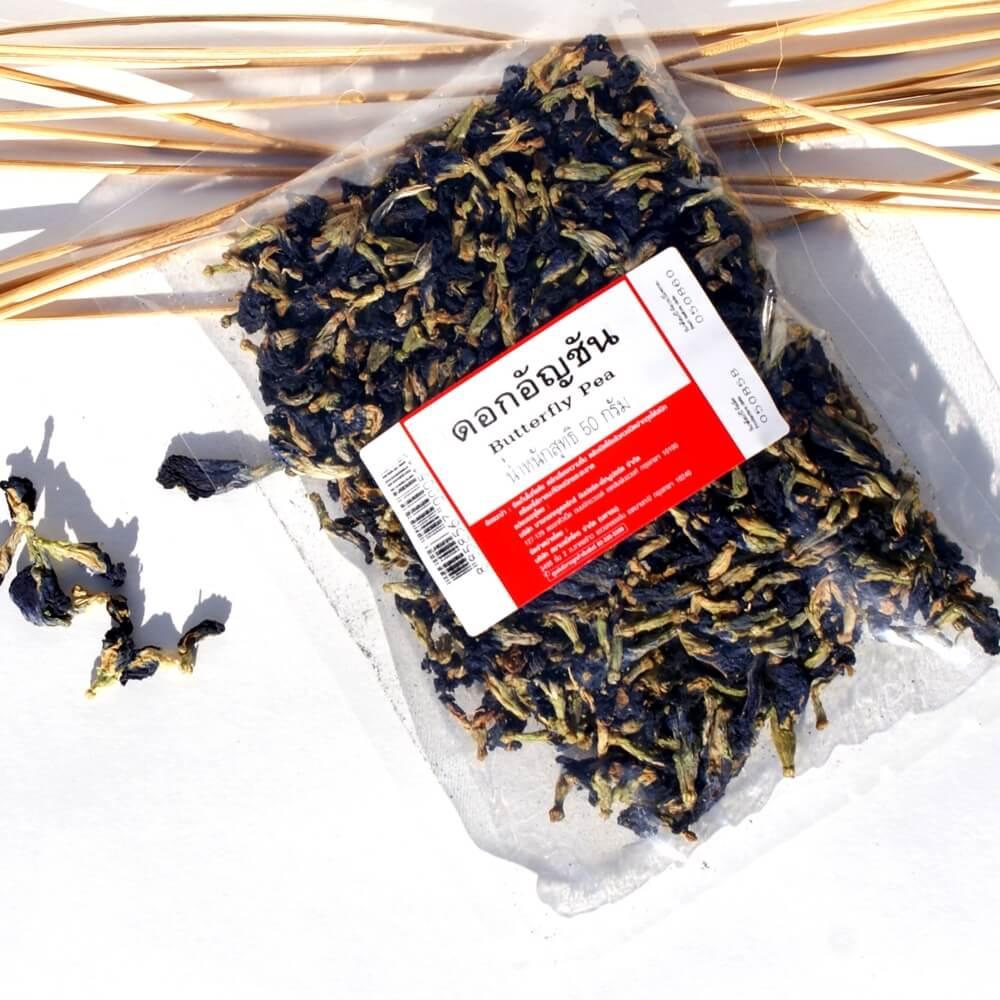 Синий чай Анчан (Butterfly Pea Tea), 50 грамм ॐ Бутик ROSA