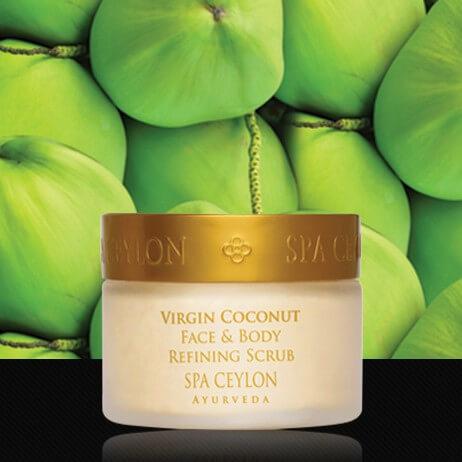 Кокосовое масло – очищающий скраб для тела и лица