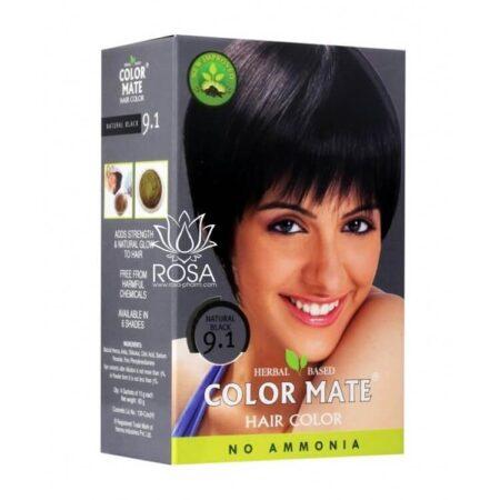 Краска для волос Color Mate 9.1 Natural Black ॐ Бутик ROSA