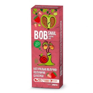 Натуральные яблочно-клубничные конфеты Равлик Боб