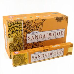 Благовония Сандал (Sandalwood, Deepika) 15 грамм купить в Бутике аюрведы