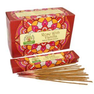 Благовония Роза и Ваниль (Rosa with Vanilla, Orkay) купить в Бутике аюрведы