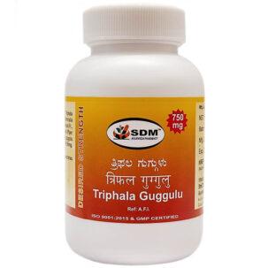Трифала гуггул СДМ (Triphala Guggulu DS, SDM) купить в Бутике аюрведы премиум качества