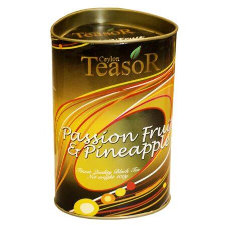Чёрный чай Маракуйя Ананас Passion fruit & Pineapple Teasor купить в Бутике аюрведы