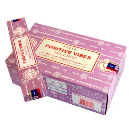 Аромапалочки Позитивные вибрации (Positive Vibes, Satya) купить в Бутике аюрведы