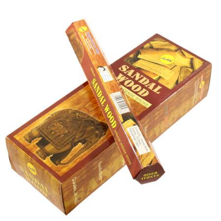 Ароматические палочки Сандал (Sandalwood, Shree Vani) купить в Бутике аюрведы