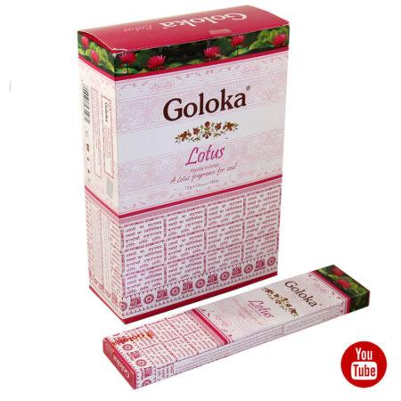 Благовония Лотос (Lotus Incense, Goloka) 15 штук купить в Бутике аюрведы