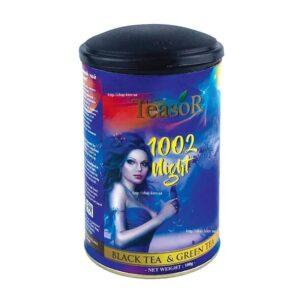 Смесь цейлонского чёрного и зеленого чая 1002 Ночи Teasor купить в Бутике аюрведы