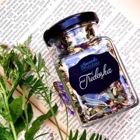 Чай Тридоша Tridosha Sattvadil, банка купить в Бутике аюрведы премиум качества ROSA