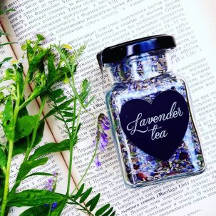 Лавандовый чай Sattvadil (банка) купить в Бутике аюрведы премиум качества ROSA