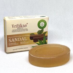 Мыло натуральное Сандал (Sandal Soap Vritikas) купить в Бутике аюрведы премиум качества