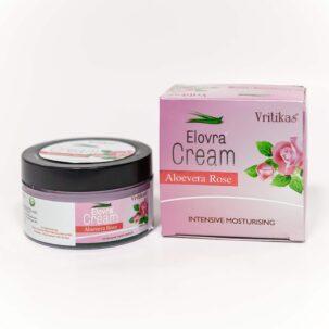 Крем Алоевера Роза (Aloevera Rose Cream Vritikas) купить в Бутике аюрведы