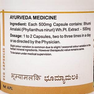 Бхумиамалаки (Bhumyamalaki Capsules, SDM) купить в Бутике аюрведы премиум качества