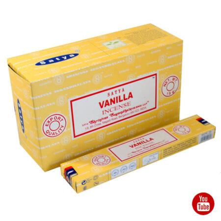 Благовония Ваниль (Vanilla, Satya) купить в Бутике аюрведы премиум качества ROSA