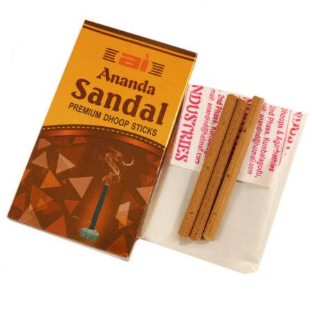 Сандаловые безосновные аромапалочки Ананда (Sandal, Ananda) купить в Бутике аюрведы